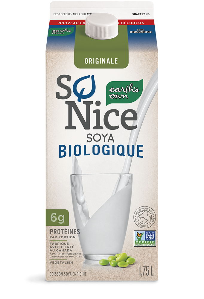 Earth's Own Originale Biologique Soya Lait - Lait à base de plantes - So Nice Biologique Soya Lait - Carton